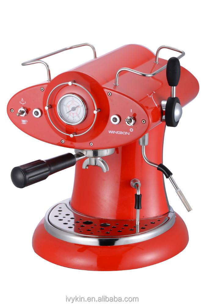 ariete marque conception caf r tro rouge espresso et cappuccino machine caf machine caf. Black Bedroom Furniture Sets. Home Design Ideas