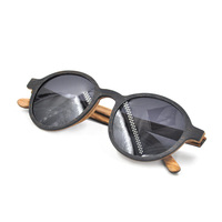 factory price latest models lamin round wood frame sunglasses for women