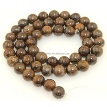 Loose gemstones bronzite round beads