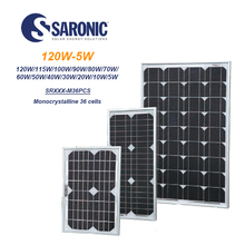 Saronic Mono Solar Panel 120w 100watt 50wp 30w 10watt 5wp for solar system