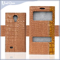 Wholesale cheap factory design flip case for samsung galaxy s4,leather cover for sony xperia m2 for lenovo a6000 with window