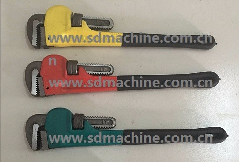 Heavy Duty Plastic Dipped Handle Pipe Wrench