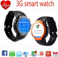 In stock ! Original Android 5.1 OS MTK6580 Smart watch 360x360 SmartWatch support 3G SIM Wifi Bluetooth Heart Rate