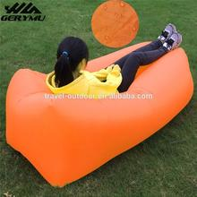 New Products 2016 Inflatable Square/Banana Sleeping Bag Camping Outdoor Laybag Air Sofa Couch Lazy Bag