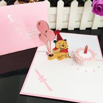 Happy Birthday Bear Lovely 3d Pop Up Birthday Card Buy 3d Pop Up
