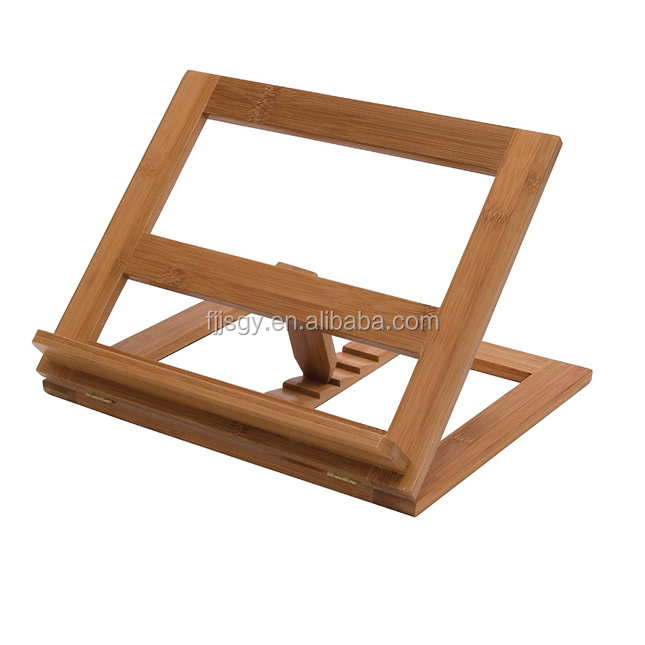 FDA Certificate Folding Bamboo Book Reading ipad Stand