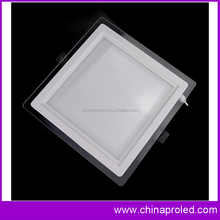 New design Square LED Recessed Light 6w with Decorative Edge Lit Glass Panel Light