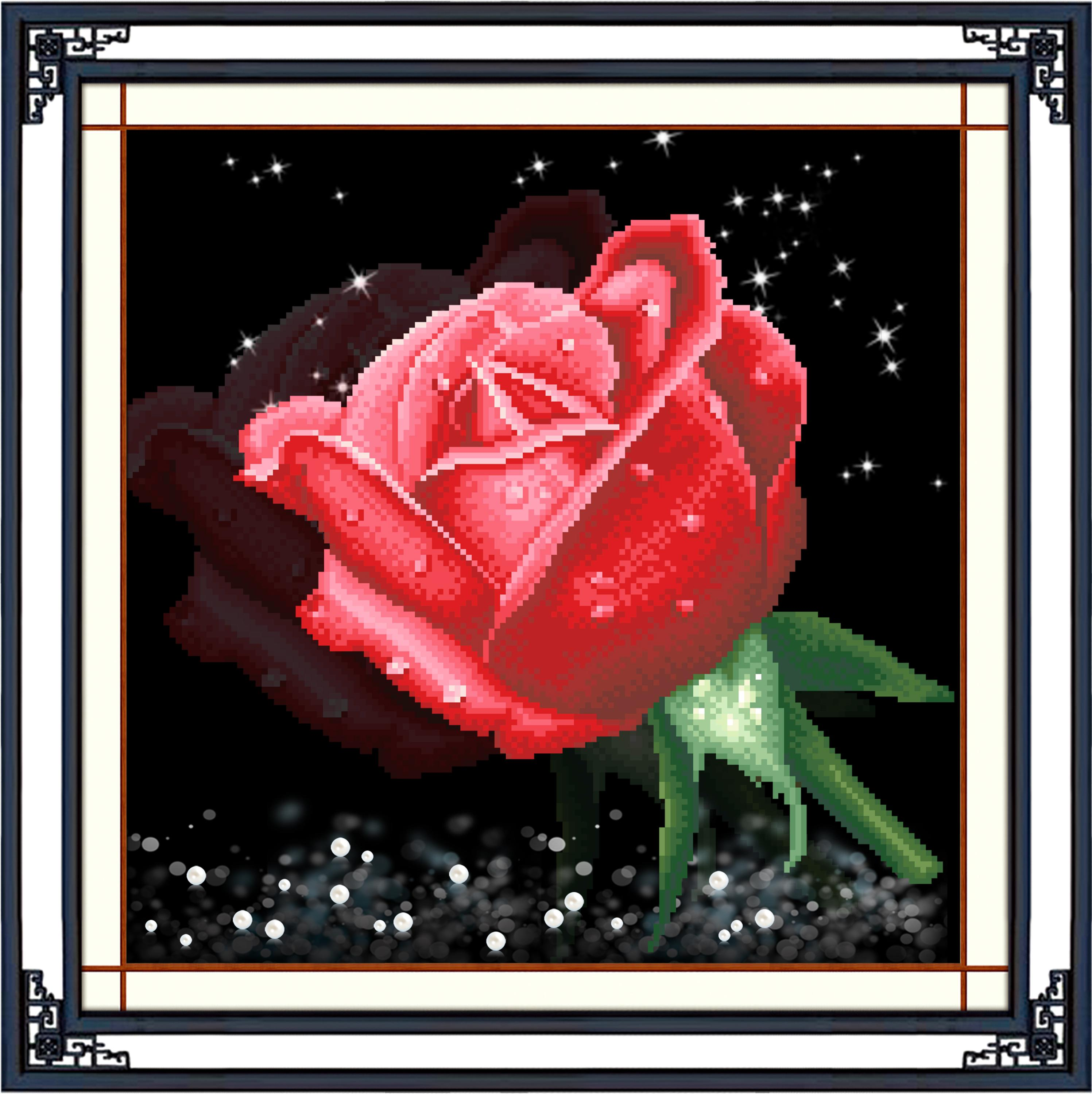 Red Rose diamond painting for home decoration