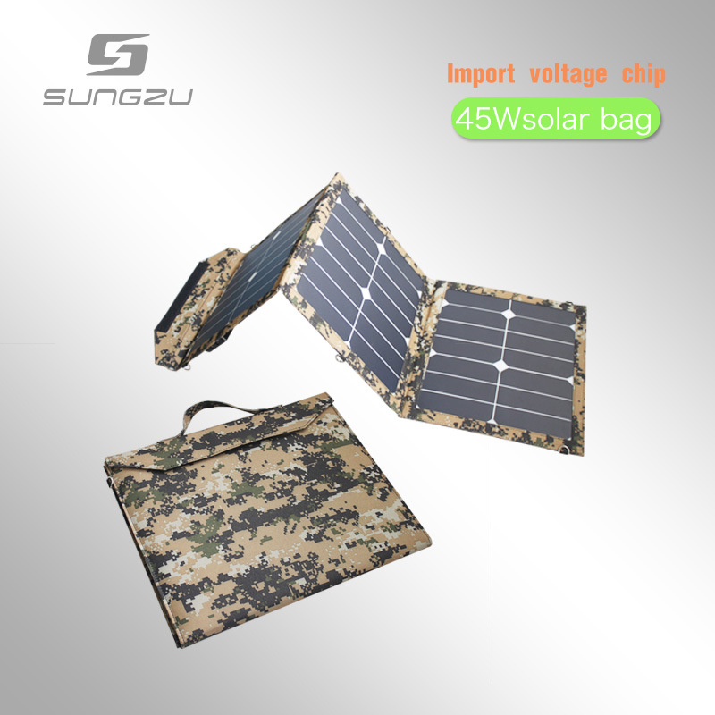 For outdoor camping portable 12V 3A solar charger with solar cells