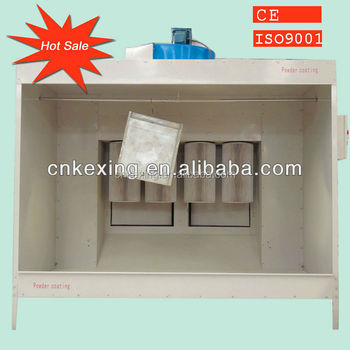 electrostatic/metallic powder coating spray paint booth cabine