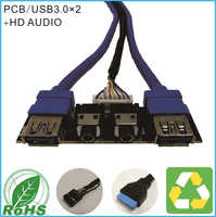 PCB USB3.0+HD AUDIO Front Case Panel Cable For Computer