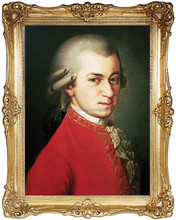 Portrait of Mozart , Painting, Oil Handmade Painting