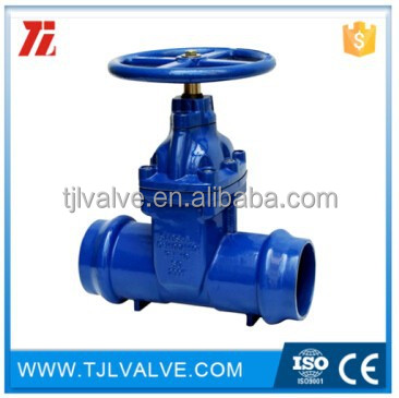 Non - rising stem resilient seated gate valve with socket ends