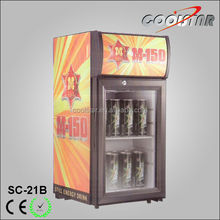Small capacity silent mini display beverage merchandise with light box
