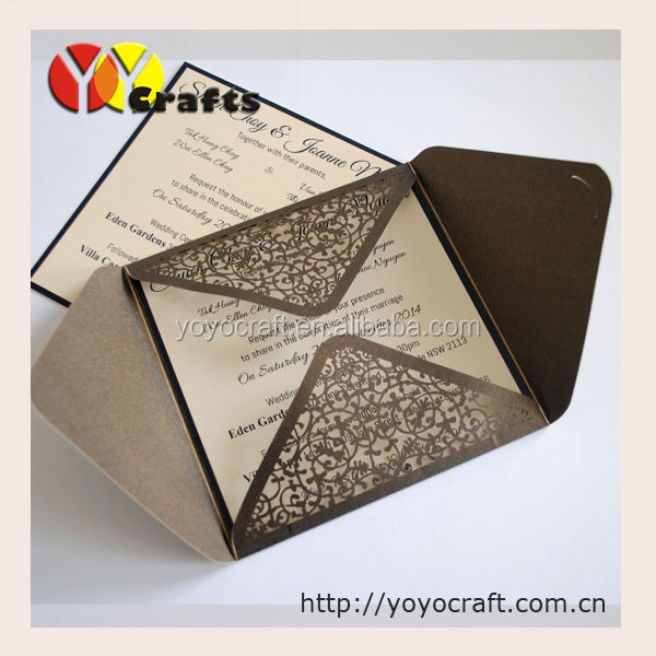 Newest Customized wedding invitation cards For Wedding Decoration laser cut party meeting wedding invitation card