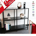 Storage Unit 4 Cube Black Bookcase Display Shelf Showcase Living Room Bedroom Design