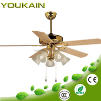 Home plastic 52 inch ceiling fan with light