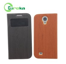 Wholesale double phone case leather for Samsung Galaxy S4 I9500