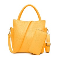 good quality cheap pu leather ladies bags shoulder bag and purse in set