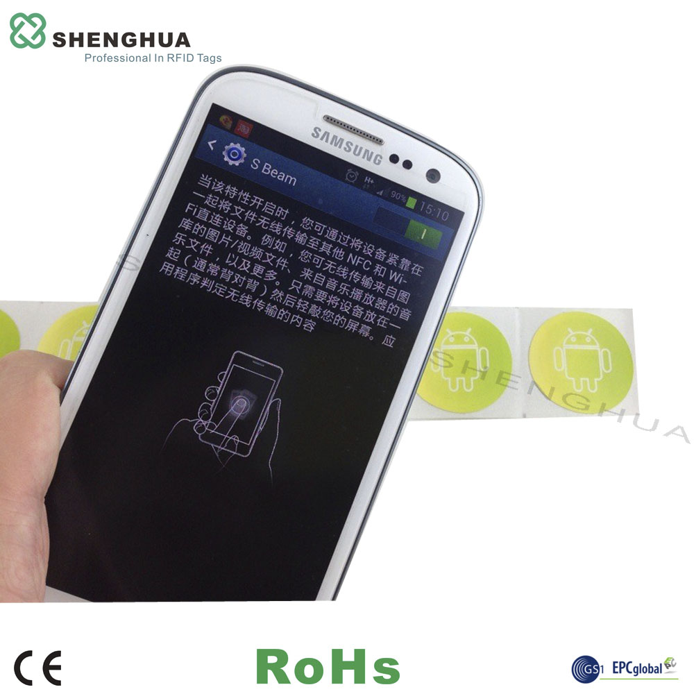 HF 13.56mhz NFC tags Labels Stickers for URL/ QR code Scanning