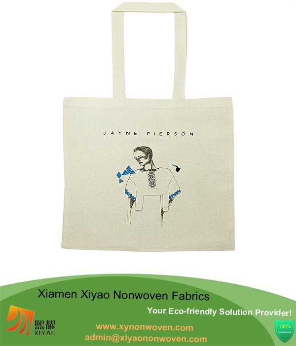 Cotton wholesale standard size canvas tote bag