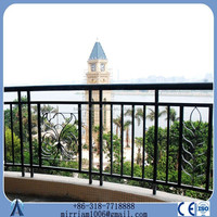 prefabricated villa faux wrought iron fence