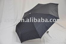 Promotional Auto 5 Folding Umbrella with Polyester Silver-Coating fabric