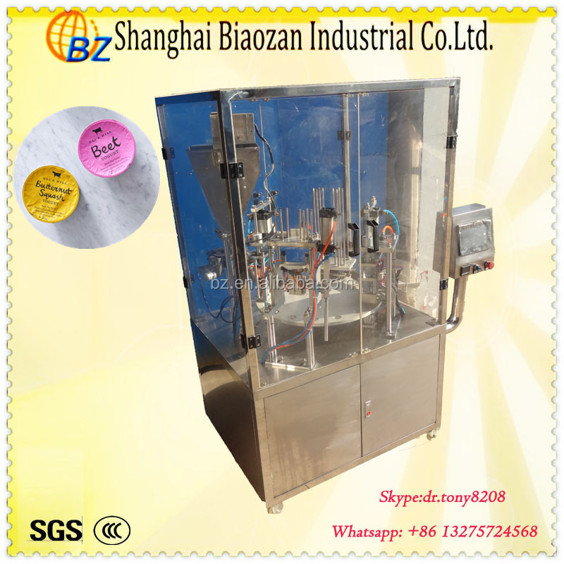Automatic plastic cup filling sealing machine,cup filler and sealer