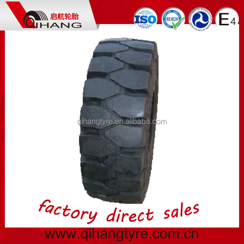 China rubber pneumatics shaped solid tire forklift tire