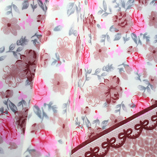 Wholesale factory custom flower printed 100% cotton twill fabric
