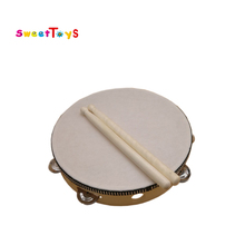 2017 new wooden tambourine hands drum toy/Bell drum/Musical instrument for kids