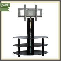 3 tiers oval new design metal tv stand RA070