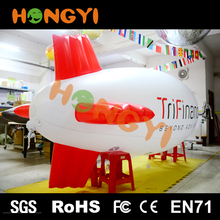 Promotions PVC advertising inflatable led lights airship outdoor Giant inflatable helium tethered blimp balloon