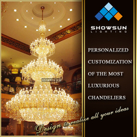 China modern huge crystal chandelier for hotel
