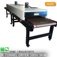 ND4065 Heating Area300*65CM T-shirt IR hot drying Tunnel screen printing conveyor dryer for ink