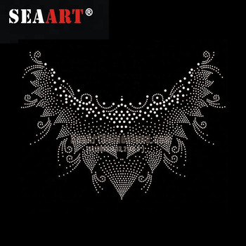 Garment Trim Hot Fix Rhinestone Heat Transfer Design