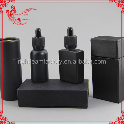 15ml empty liquor Pharmaceutical grade bottle, ejuice matt black round glass 15ml/30ml paper tube packaging for eliquid bottle
