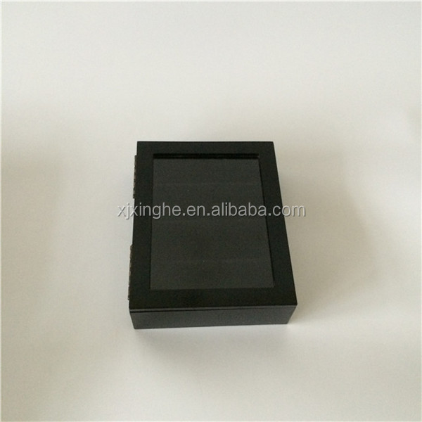 Black wooden watch boxes