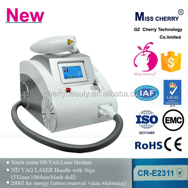 nd yag laser handle with 3 tips professional nd yag laser tattoo removal machine