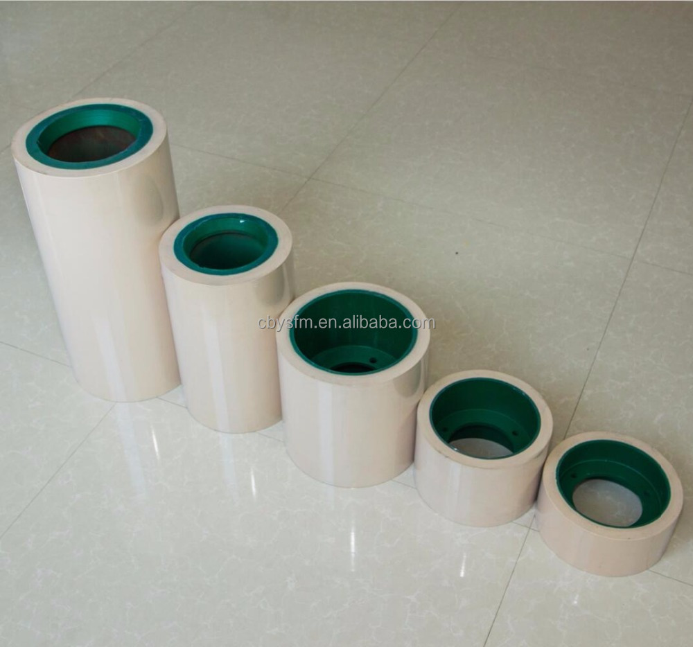 All sizes of white rubber roll for rice machines