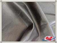Top grain pu coated leather for garment