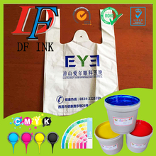 High adhesive force water based printing ink for LDPE plastic film bag