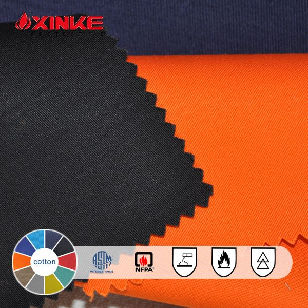 nfpa2112 100% cotton flame retartant and insect repellent woven fabric for welding coveralls