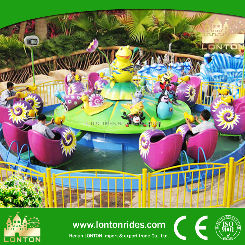 Summer popular theme park rides Snail Team water amusement rides in China