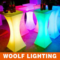 nightclub glowing led cocktail bar table