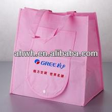 Reusable foldable shopping bag/ pocket foldable tote shopping bag