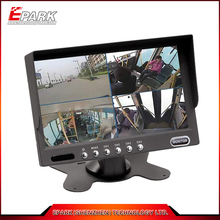 7 inch TFT LCD car quad monitor with touch screen