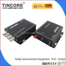 OEM 4 Channel AHD analog Video to Fiber Optic media converter/ RS485/Ethernet/audio,Video optical transmitter