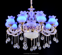 Wireless Mobile App Control Contemporary European Style LED Energy Saving Luxury Crystal Chandelier
