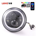 "7"" RGB LED Headlights & 4.5"" Passing Lamps for Harley Davidson Motorcycle"